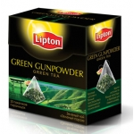 Чай Lipton Green Gunpowder 20пирамидок 20*1,8г