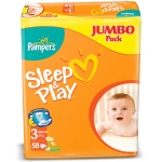Подгузники Pampers Sleep&PlayJumboJunior 58шт/уп