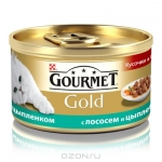 Корм д/котов PurinaGourmetGold с курицей и лососем 85г